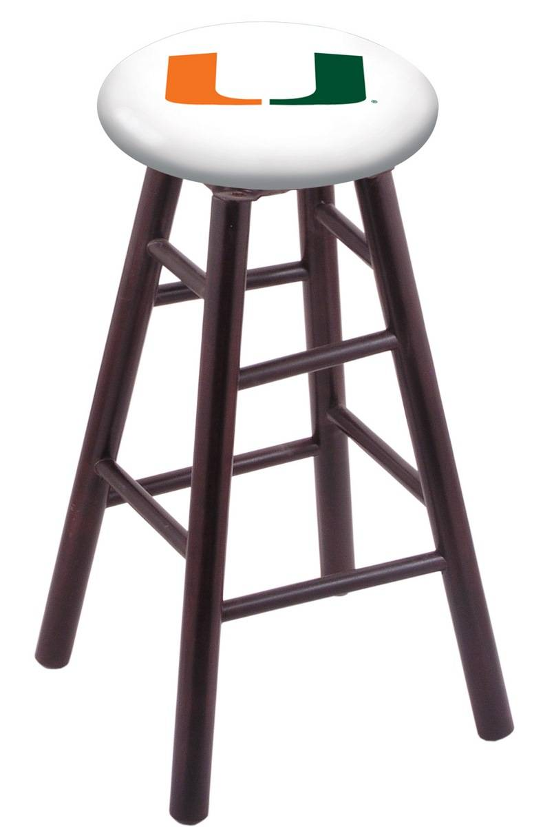 Great for the bar or counter space the Miami Hurricanes Maple Wood Bar Stool is a must have for the home or fan cave This swivel stool features a screen