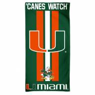 Miami Hurricanes McArthur NCAA Beach Towel