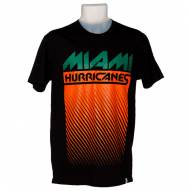 Miami Hurricanes Men's Black Fade Out T-Shirt