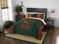 Miami Hurricanes Modern Take Full/Queen Comforter Set