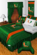 Miami Hurricanes NCAA Sideline Bed Set