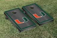 Miami Hurricanes Onyx Stained Border Cornhole Game Set