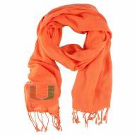 Miami Hurricanes Orange Pashi Fan Scarf