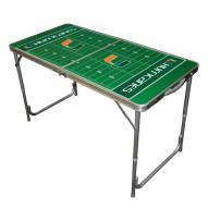 Miami Hurricanes Outdoor Folding Table