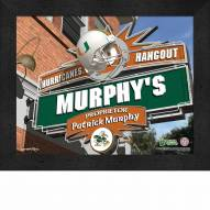 Miami Hurricanes Personalized Framed Sports Pub Print