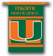 "Miami Hurricanes Premium 28"" x 40"" Two-Sided Banner"