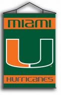 "Miami Hurricanes Premium 28"" x 40"" Indoor Banner Scroll"