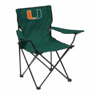 Miami Hurricanes Quad Folding Chair