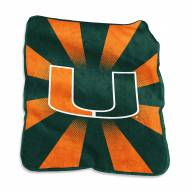 Miami Hurricanes Raschel Throw Blanket