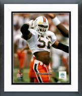 Miami Hurricanes Ray Lewis 1994 Action Framed Photo
