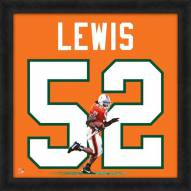 Miami Hurricanes Ray Lewis Uniframe Framed Jersey Photo