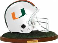 Miami Hurricanes Replica Football Helmet Figurine