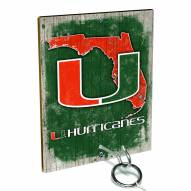 Miami Hurricanes Ring Toss Game
