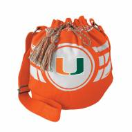 Miami Hurricanes Ripple Drawstring Bucket Bag
