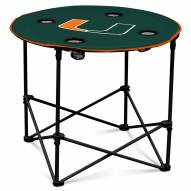 Miami Hurricanes Round Folding Table