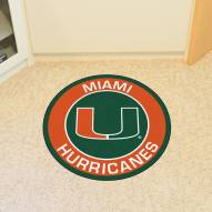 Miami Hurricanes Rounded Mat