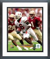 Miami Hurricanes Santana Moss 1999 Action Framed Photo