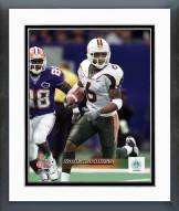Miami Hurricanes Santana Moss Action Framed Photo