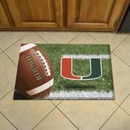Miami Hurricanes Scraper Door Mat