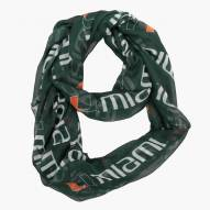 Miami Hurricanes Sheer Infinity Scarf