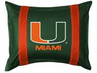 Miami Hurricanes Sidelines Pillow Sham