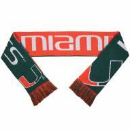 Miami Hurricanes Split Logo Reverse Scarf
