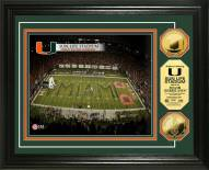 Miami Hurricanes Stadium 24KT Gold Coin Photomint