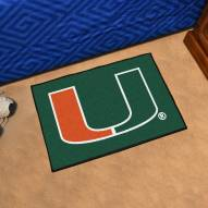 Miami Hurricanes Starter Rug
