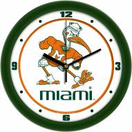 Miami Hurricanes Traditional Wall Clock