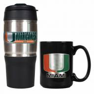 Miami Hurricanes Travel Tumbler & Coffee Mug Set
