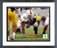 Miami Hurricanes Vernon Carey Action Framed Photo