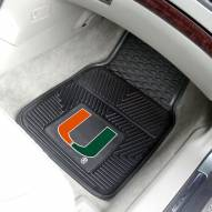 Miami Hurricanes Vinyl 2-Piece Car Floor Mats