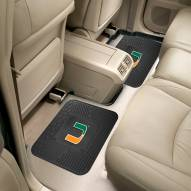 Miami Hurricanes Vinyl 2-Piece Rear Floor Mats