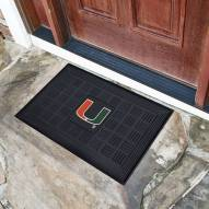 Miami Hurricanes Vinyl Door Mat