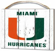 Miami Hurricanes Weathered Logo Small Plaque