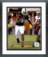 Miami Hurricanes Willis McGahee 2002 Action Framed Photo