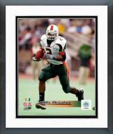 Miami Hurricanes Willis McGahee Action Framed Photo