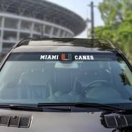 Miami Hurricanes Windshield Decal