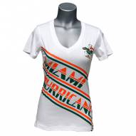 Miami Hurricanes Women's Earned Stripes V-Neck