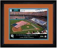 Miami Marlins 13 x 16 Personalized Framed Stadium Print
