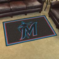 Miami Marlins 4' x 6' Area Rug