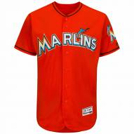Miami Marlins Authentic Fire Red Alternate Baseball Jersey