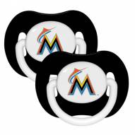 Miami Marlins Pacifiers - 2 Pack