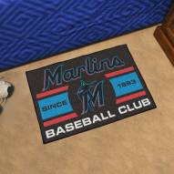 Miami Marlins Baseball Club Starter Rug