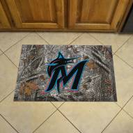 Miami Marlins Camo Scraper Door Mat