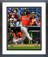 Miami Marlins Christian Yelich 2014 Action Framed Photo