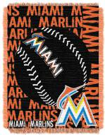 Miami Marlins Double Play Jacquard Throw Blanket