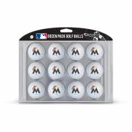 Miami Marlins Dozen Golf Balls