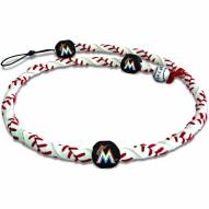 Miami Marlins Frozen Rope Baseball Necklace
