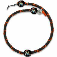 Miami Marlins Frozen Rope Color Baseball Necklace